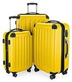 HAUPTSTADTKOFFER - Spree - 3er Koffer-Set Trolley-Set Rollkoffer Reisekoffer, TSA, (S, M & L), Gelb