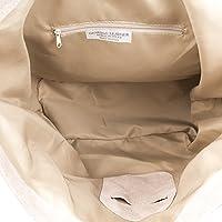 FIRENZE ARTEGIANI.Bolso shopping bag de mujer piel auténtica.Bolso hombro cuero genuino,piel GAMUZA.Asa hombro Dollaro. MADE IN ITALY. VERA PELLE ITALIANA. 46x34x15 cm.