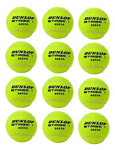 Dunlop Green Stage 1 12 Bälle 25% druckreduziert Methodikbälle im Polybeutel