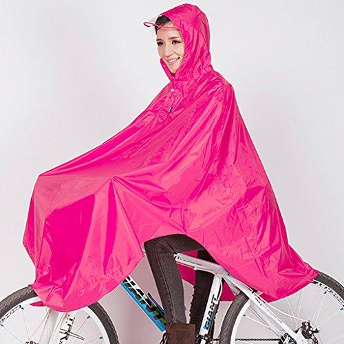 Guo Bike Raincoat Einzelner weiblicher Erwachsener mit Kapuze im Freien Radfahrer Mountainbike Studenten ( farbe : # 4 ) # 6