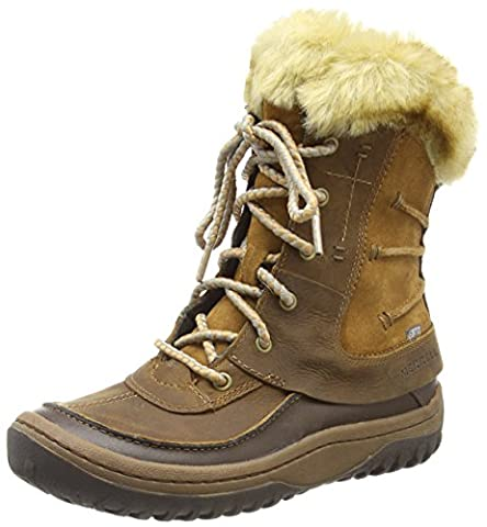 Merrell Decora Sonata Waterproof, Women's Lace-Up Snow Boots - Brown (Brown Sugar), 7 UK