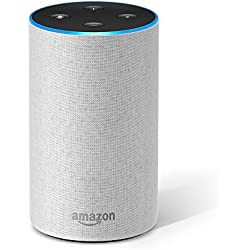 Amazon Echo (2. Generation), Intelligenter Lautsprecher mit Alexa, Sandstein Stoff