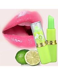 Yiitay Magic Température Change de couleur rouge à lèvres l'humidité Vert à Rose Baume à Lèvres Lipstick