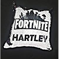 fortnite black and white sequin changing cushion, gift for boys, birthday christams