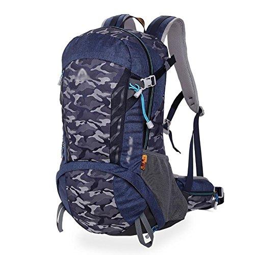 HWLXBB Outdoor Bergsteigen Paket Männer und Frauen 30L Wasserdichte Mehrzweck-Bergsteigen Tasche Wandern Camping Bergsteigen Rucksack 9*