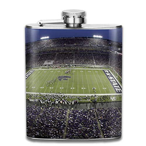 Kansas State University Stadium Fashion Portable Stainless Steel Hip Flask Whiskey Bottle for Men and Women 7 Oz Kansas State University