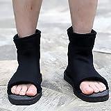 Par de sandalias de Naruto de color negro, ideales para completar disfraz, color Negro, talla 39