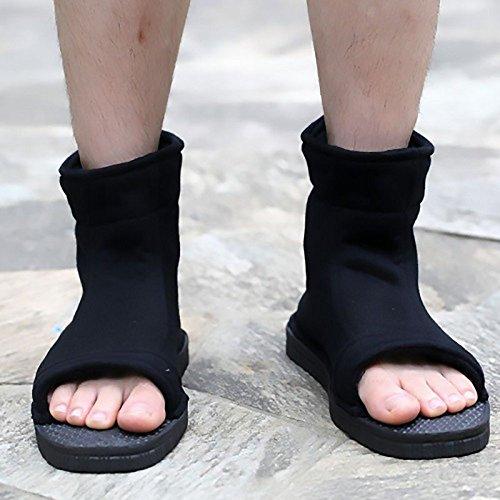Naruto Uchiha Sasuke Haruno Sakura Ninja cosplay negro zapatos sandalias botas zapatos de Kakashi traje de Cosplay accesorios, 41