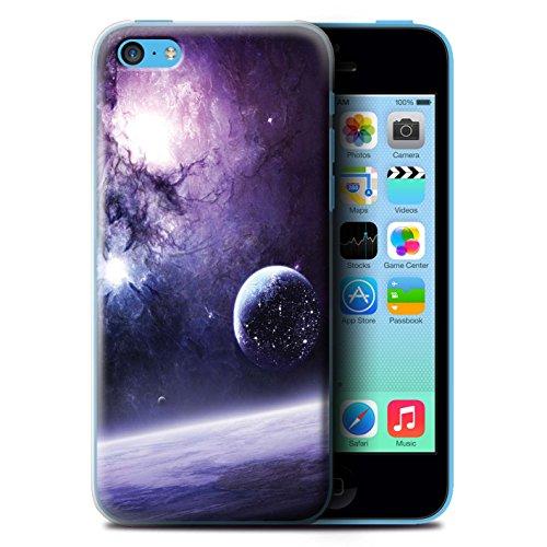 Offiziell Chris Cold Hülle / Case für Apple iPhone 5C / Pack 12pcs Muster / Fremden Welt Kosmos Kollektion Planet/Mond
