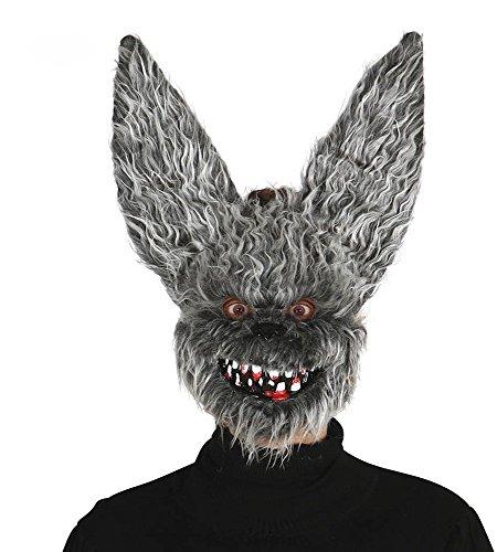 shoperama Haarige Maske Zombie Hase Fledermaus Horror Halloween Killer Psycho Fell Erwachsene böse