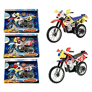AQS INTERNATIONAL Kids Dirt Bike Motorcycle Model to Ride Racing Mountain Vintage Bike Toy Xmas