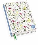 Lovely Flowers - Kalenderbuch A6 - Kalender 2019 - DuMont-Verlag - Taschenkalender mit Schulferien und Lesebändchen - 11,3 cm x 16,3 cm
