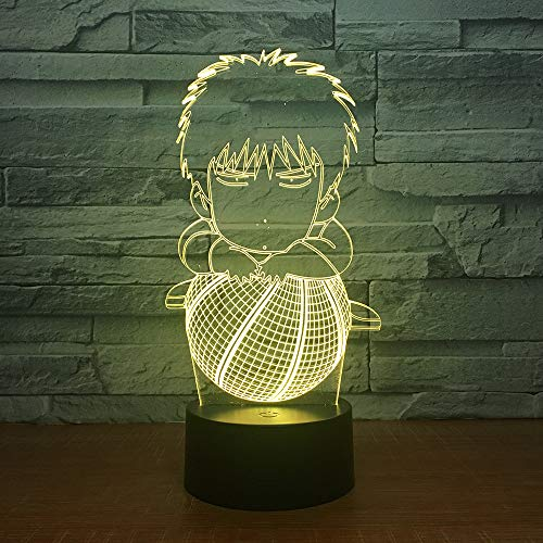 Optische Illusion Lampe 3D LED Nachtlicht 7 Farbe Slam Dunk Rukawa Ahorn Schreibtisch Dekoration Lampen für Baby Schlafzimmer Kinder Geburtstagsgeschenk -