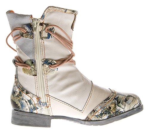 TMA , Desert boots femme Blanc - Weiß Creme