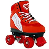 Rio Roller Pure Quad Skates - Red/White - Size - UK 7