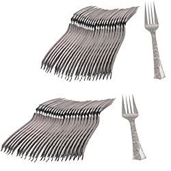 Ezee Steel finish Disposable Dinner Fork - 100 Pieces