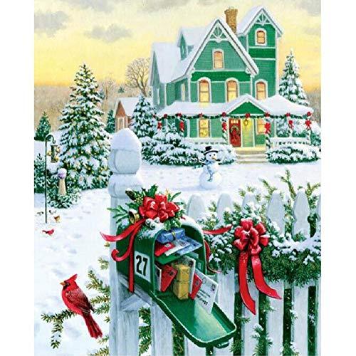 MAIYOUWENG Jigsaw Puzzle 1000 Stück Holzpuzzle Manor Weihnachtsschmuck Für Die Ganze Familie, Einzigartiges Geburtstagsgeschenk Für Jugendliche Und Erwachsene -