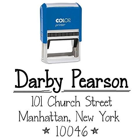 Personalisierte Stempel Von Adresse Stamp Benutzerdefinierte Stationäre Selbst Ink Stamper Desk Accessory Geschenk