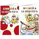ARGUVAL 36333 - Tarjeta De Invitacion Arguval Fantasia Kitty Blister 8 Unidades Surtidas Catalan (15 Unidades)
