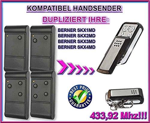 Preisvergleich Produktbild BERNER - SKX1MD , SKX2MD , SKX3MD , SKX4MD . 433.92 MHz Kompatibel Handsender, Ersatz sender (Fixed code)