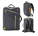 """eimo Transformable portable étanche sac à dos de 15 pouces avec des poches multi-taille pour ordinateur portable 15 """"est utilisé comme sac à dos et sac à main Satchel 15"""" ordinateurs portables / Macbook Pro 15.4 '' / Macbook Air 15.4 '' / Macbook d'affichage de la rétine Pro 15.4 '' (gris)"""