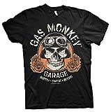 Gas Monkey Lizenziert Herren Hot Rod Skull T-Shirt