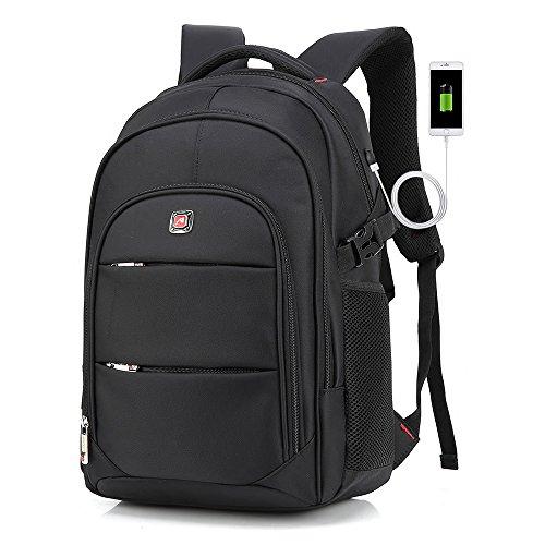 """Laptop Rucksack, Cooleaf 15,6"""" Notebookruckasack, Rucksack mit USB für Computer, Schulrucksack Schwarz"""