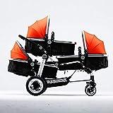 Ambiguity Kinderwagen,Drillinge Kinderwagen Baby Wagen High-Ansicht Kinderwagen Kinderwagen