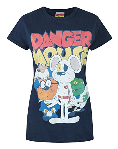 Official Danger Mouse Women's T-Shirt (M) (T-shirt Mouse Danger)