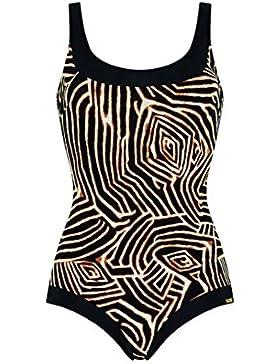 Costume donna intero contenitivo Triumph ferretto senza coppa Wild Zebra OW