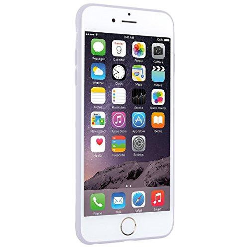 Coque iPhone 6 Plus. Housse iPhone 6S Plus Bleu GrandEver Etui Silicone Souple Back Cover Case Caoutchouc Rubber Gel Cases Haute qualité Flexible Soft Back Case coquille Couverture pour Apple iPhone 6 Blanche