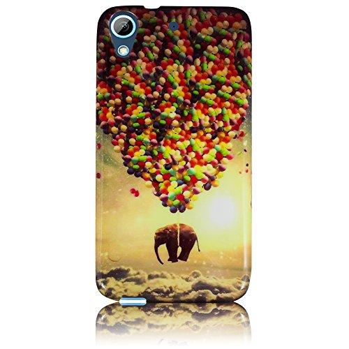 HTC Desire 626 626G Silikon Schutz-Hülle fliegender Elefant weiche Tasche Cover Case Bumper Etui Flip smartphone handy backcover thematys®