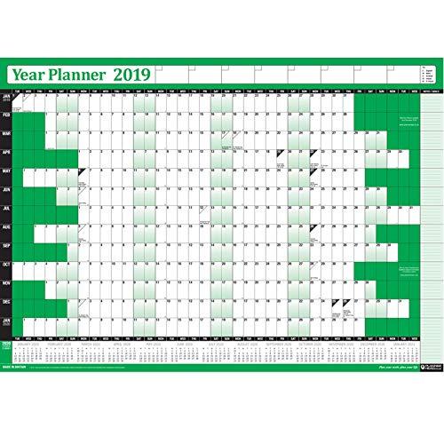 Unito Calendario Accademico.2019 Calendario Planner Annuale Annuale Office Home Wall Calendar Chart Poster Include Regno Unito E Irlanda Festivita E 615 7 M Note