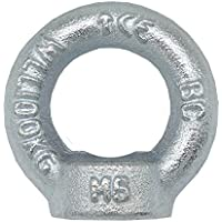 Ringmutter M10 DIN 582 C15E 3 Stück Ösen-Mutter Eisen verzinkt Anschlagmittel Traglast 230kg Augmutter Hochwertige Qualität