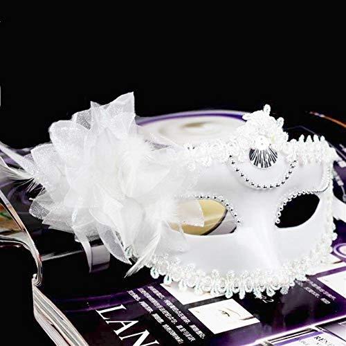 Halloween Fancy Dress Party Maske Retro Venezianische Party Männliche und weibliche Erwachsene Karneval Ball Kostüm Domino Fox halbe Gesichtsmaske maske (Color : 1)