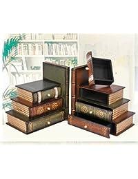 multifuncional/antiguo vintage libro caja/joya/Falsos apoyos apoyos modelos simulación del libro/caja de libros libro libro-A