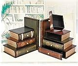 multifuncional/antiguo vintage libro caja/joya/Falsos apoyos apoyos modelos simulación del libro/caja de libros libro libro-A - MYITIAN - amazon.es