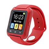 Winwintom Moda 40x47mm Silicona Bluetooth Smart reloj de pulsera Saludable Smartwatch para iPhone LG Samsung TELÉFONO (Rojo)