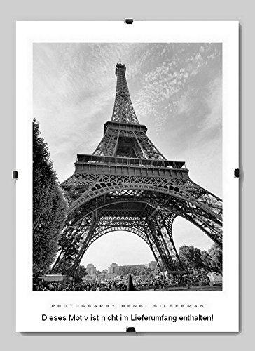 Boston Rahmenloser Bildhalter Cliprahmen Clix 37x80 cm 80x37 cm Sondergrösse mit Acrylglas...