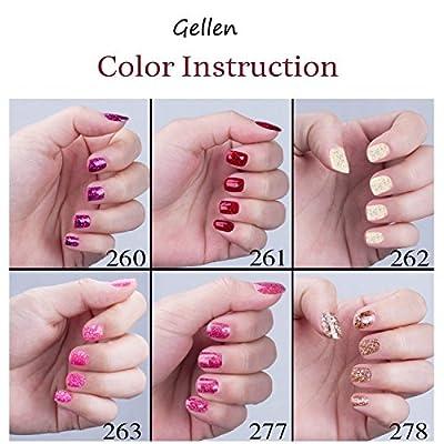 Gellen UV LED Base and Top Coat Gel Nail Polish 8ml