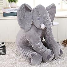 Kenmont Almohada De Elefante Lindo Animales juguetes de peluche Cuerpo de apoyo / cuello / espalda / Lumbar Almohadas Dormir Arrojar la almohada Cojines de muñeca suave para niños bebé niño de los