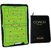 Firelong calcio calcio allenatore pieghevole magnetica strategia tattica bordo zipper-closure write-wipe cancellabili e con una penna 2in 1