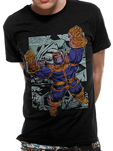 T-Shirt (Unisex-M) Thanos Comic Strip (Black)