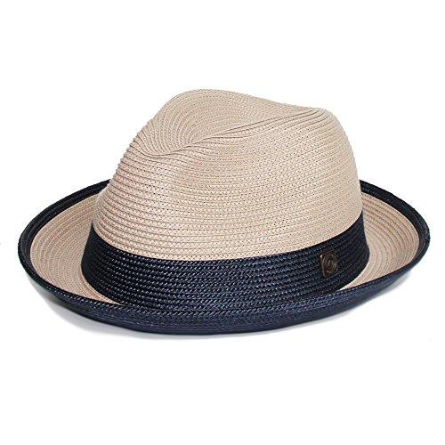 Dasmarca-collection été- déformable et compressible chapeau de paille style Fedora-Florence Beige