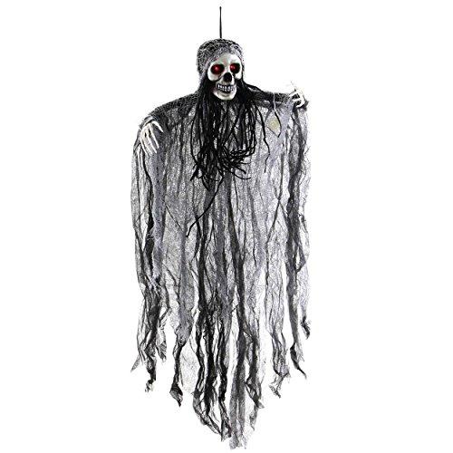 Halloween, Deko, Sensemann hängend | knuellermarkt.de | Tischdeko, Dekoration, gruselig, Kostüm-Party, Party Zubehör, Mit Funktion, Totenkopf, Bewegungsmelder