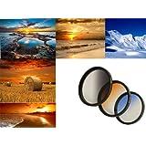 Orange Verlaufsfilter f/ür Digitalkameras 72mm Filterdurchmesser