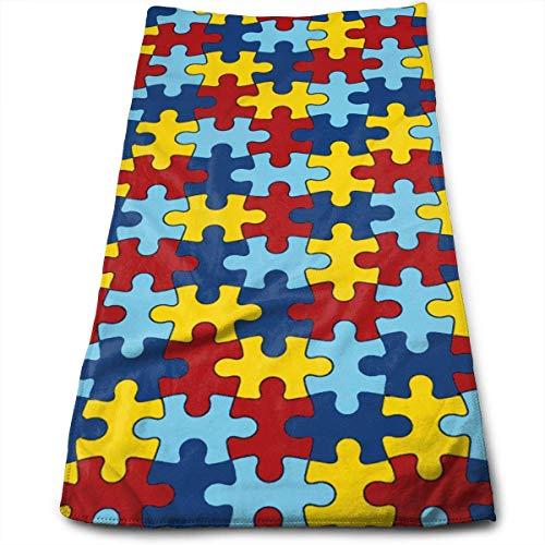 Uosliks Autismus-Bewusstseins-Muster-weiche Tuch-Vielzweckküchen-Reinigungs-Handtücher, Sport-Tuch -