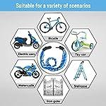 FishOaky-Lucchetto-Bici-Combinazione-Lucchetti-per-Bicicletta-Blocco-della-Bici-5-cifre-Security-Strisce-Riflettenti-Bike-Lock-per-Bambini-e-Adulti-Bici-Motocicli-Cancelli-1-Metro