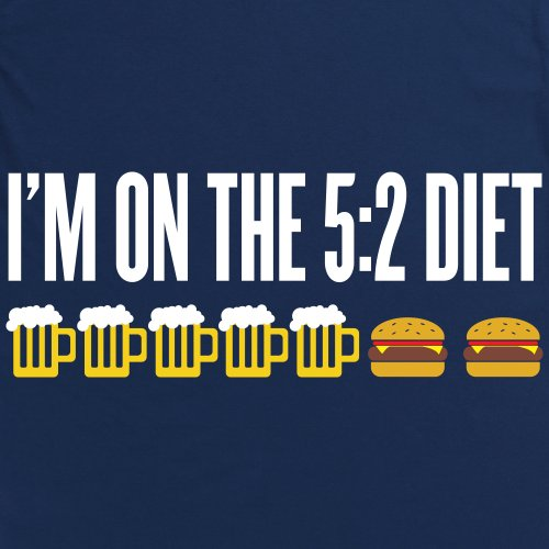 Five Two Diet T-Shirt, Herren Dunkelblau