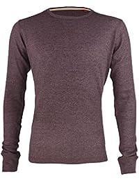 Hommes gaufré Top Col Rond Manches Longues Sweatshirt Thermique T-Shirt